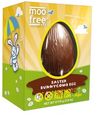 Moo Free Honeycomb Easter Egg