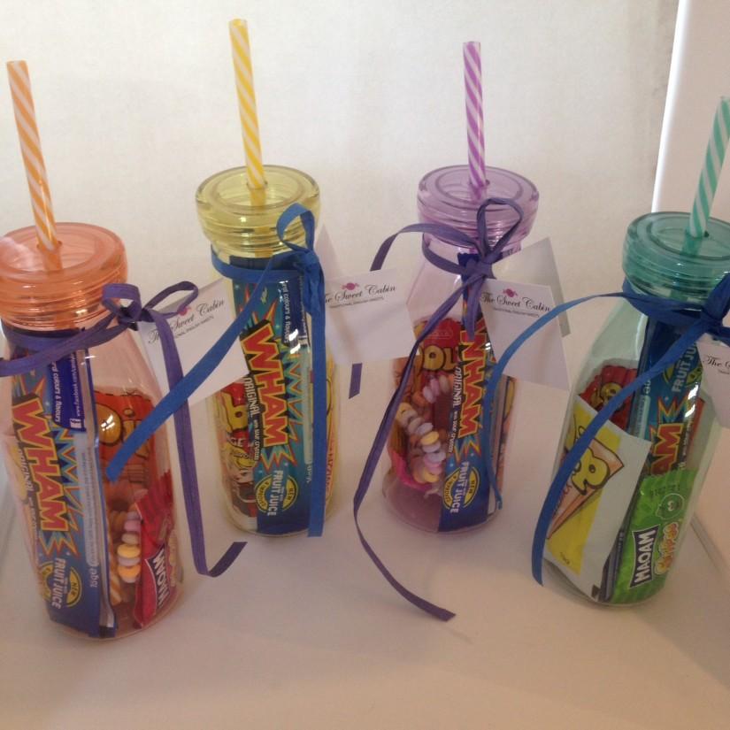Colourful Milk Shake bottles
