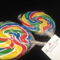 Rainbow Swirl Lollies